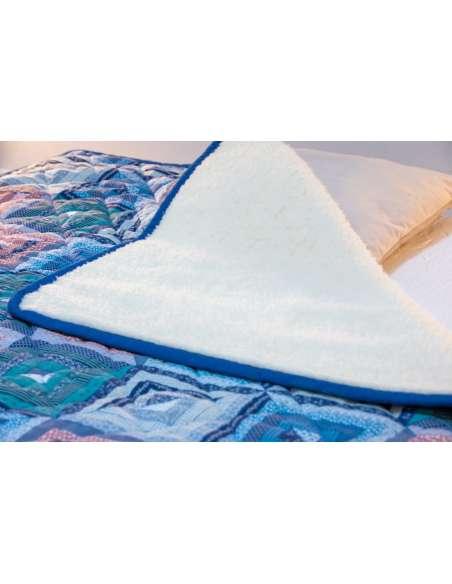 Merino Dyne med patchwork. Woolmark Ull teppe