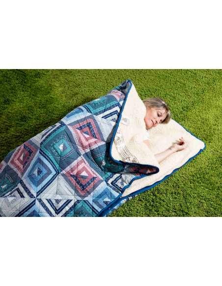 Ull Sovsäck i ren ny lammull och patchwork Ullsängkläder